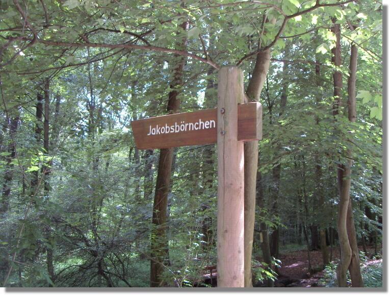 Zum Vergrößern bitte das Bild anklicken Jakobsborn